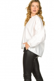 Second Female |  Blouse with open collar Addison | white  | Picture 5