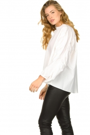 Second Female |  Blouse with open collar Addison | white  | Picture 6