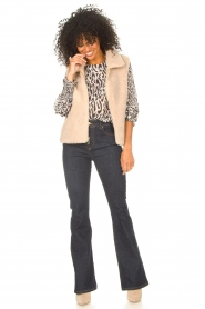 Lois Jeans |  High waisted flared jeans Raval L32 | dark blue  | Picture 3