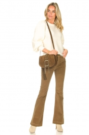 Lois Jeans |  High waisted flared pants Raval L32 | beige  | Picture 3