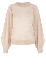 Second Female |  beige | Sweater with balloon sleeves Janna