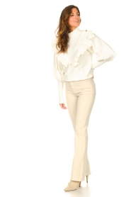 Lois Jeans |  L34 High waist flared jeans Raval | beige  | Picture 4