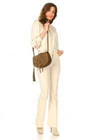 Lois Jeans |  L34 High waist flared jeans Raval | beige  | Picture 2