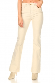 Lois Jeans |  L34 High waist flared jeans Raval | beige  | Picture 5