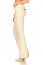 Lois Jeans |  L34 High waist flared jeans Raval | beige  | Picture 6