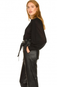 Second Female |  Sweater with balloon sleeves Janna | black  | Picture 5