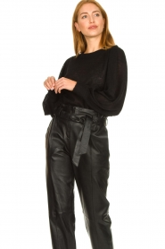 Second Female |  Sweater with balloon sleeves Janna | black  | Picture 2
