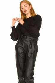Second Female |  Sweater with balloon sleeves Janna | black  | Picture 4