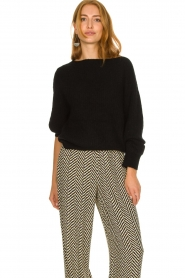 Second Female |  Knitted sweater Galis | black  | Picture 2