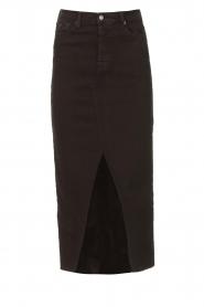 Lois Jeans    Stretchy midi denim skirt Flo   black    Picture 1