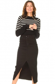 Lois Jeans    Stretchy midi denim skirt Flo   black    Picture 4