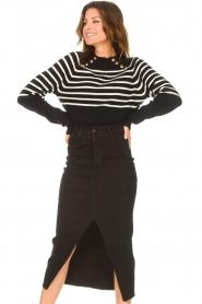 Lois Jeans    Stretchy midi denim skirt Flo   black    Picture 5