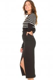Lois Jeans    Stretchy midi denim skirt Flo   black    Picture 6