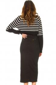 Lois Jeans    Stretchy midi denim skirt Flo   black    Picture 7