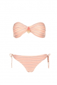 Hipanema |  Bandeau bikini with lurex Swimmy | pink  | Picture 1