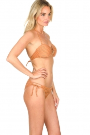 Hipanema |  Bandeau bikini with lurex Swimmy | rust orange  | Picture 3