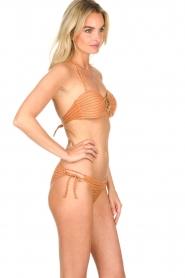 Hipanema | Bandeau bikini met lurex Swimmy | roestoranje  | Afbeelding 3