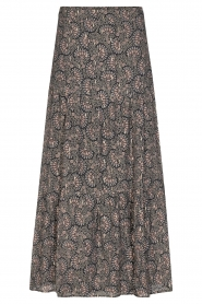 Sofie Schnoor |  Maxi skirt with print Ellie | black  | Picture 1