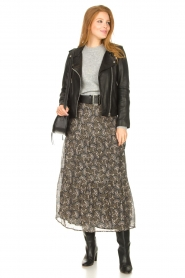 Sofie Schnoor |  Maxi skirt with print Ellie | black  | Picture 3