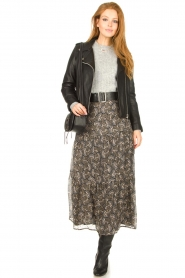 Sofie Schnoor |  Maxi skirt with print Ellie | black  | Picture 4