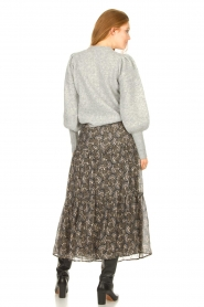 Sofie Schnoor |  Maxi skirt with print Ellie | black  | Picture 7