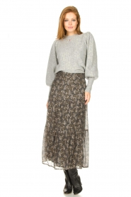 Sofie Schnoor |  Maxi skirt with print Ellie | black  | Picture 2