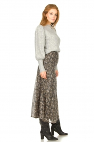 Sofie Schnoor |  Maxi skirt with print Ellie | black  | Picture 6