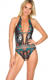 Hipanema |  Printed swimsuit Tequilla | black  | Picture 2
