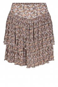 Sofie Schnoor |  Skirt with floral print Valencia | camel  | Picture 1