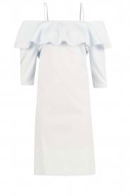 Set | Off-shoulder jurk Cilla | blauw  | Afbeelding 1