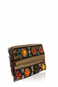 Hipanema |  Beaded clutch with fringes Pirogue | black  | Picture 3