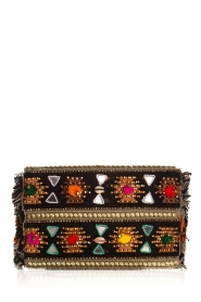 Hipanema |  Beaded clutch with fringes Pirogue | black  | Picture 4