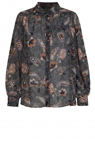 Second Female |  zwart | Printed blouse Geo   | Picture 1