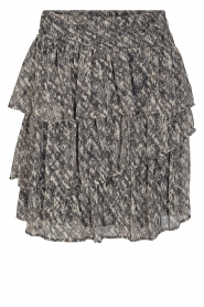 Sofie Schnoor |  Skirt with print | black  | Picture 1