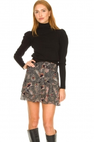 Second Female |  Floral skirt Geo | black  | Picture 2