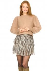 Sofie Schnoor |  Skirt with lurex Sharella | natural  | Picture 2