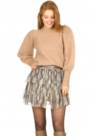 Sofie Schnoor |  Skirt with lurex Sharella | natural  | Picture 4