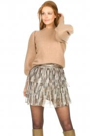 Sofie Schnoor |  Skirt with lurex Sharella | natural  | Picture 5