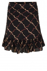 Second Female |  Skirt with floral print Louis | black  | Picture 1