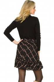 Second Female |  Skirt with floral print Louis | black  | Picture 7