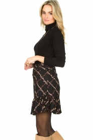 Second Female |  Skirt with floral print Louis | black  | Picture 6