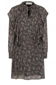 Sofie Schnoor |  Dress with print Tamira | black  | Picture 1