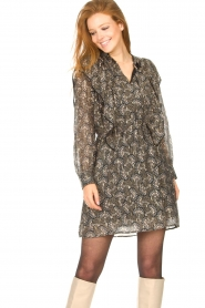 Sofie Schnoor |  Dress with print Tamira | black  | Picture 5