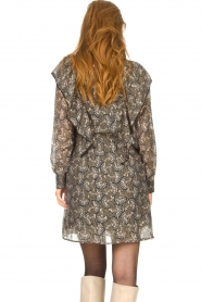 Sofie Schnoor |  Dress with print Tamira | black  | Picture 8