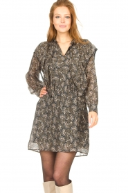 Sofie Schnoor |  Dress with print Tamira | black  | Picture 6