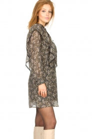 Sofie Schnoor |  Dress with print Tamira | black  | Picture 7