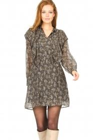 Sofie Schnoor |  Dress with print Tamira | black  | Picture 4