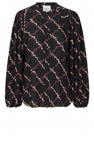 Second Female |  zwart | Printed blouse Louis | black  | Picture 1