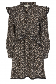 Sofie Schnoor |  Dress with floral print Khloe | black  | Picture 1