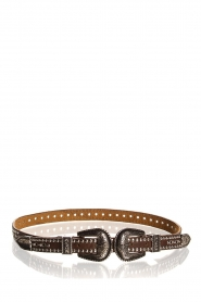 Hipanema |  Leather double buckle belt Alena | brown  | Picture 1